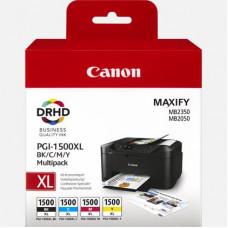 Cartouche Canon  MAXIFY PGI-1500XL  C/M/Y/BK